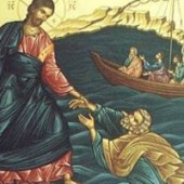 Ježiš chodí po mori