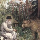Serafim Sarovský a medveď