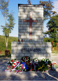Posvätenie vojenského cintorína vo Veľkrope